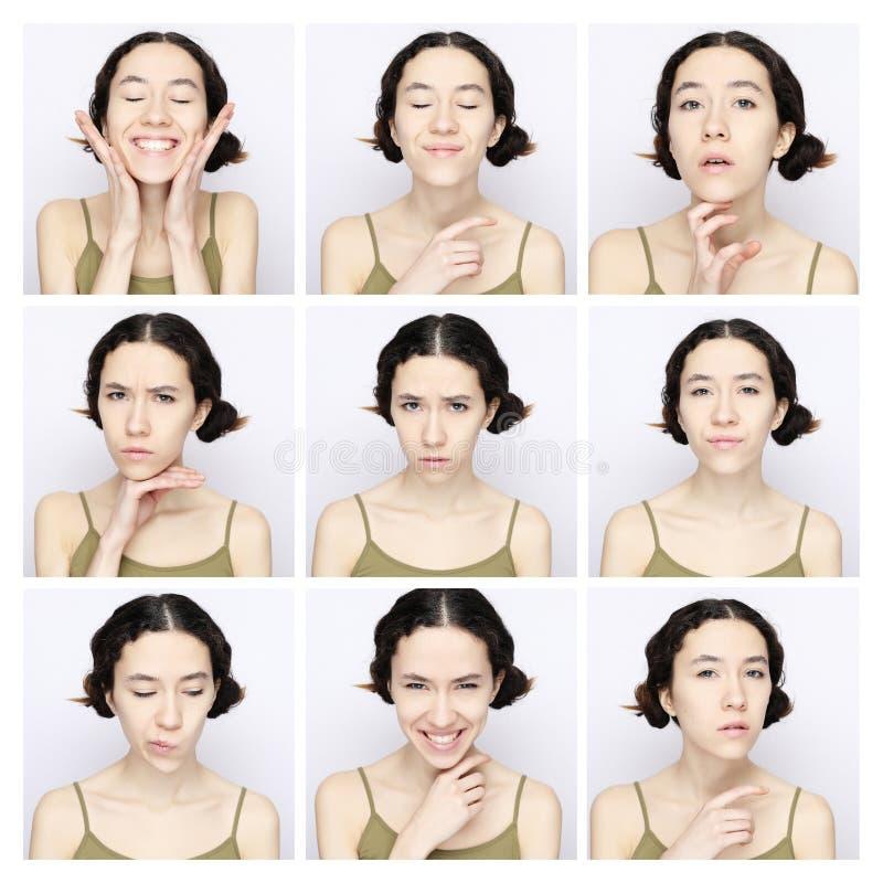 Collage De La Misma Mujer Foto De Archivo Imagen De Parpadeo 31288890
