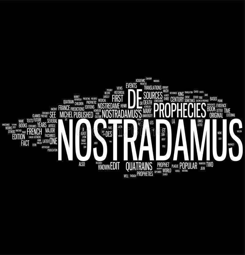 Collage de la palabra de la profecía de Nostradamus libre illustration