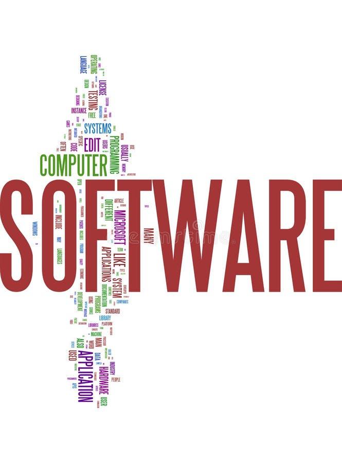 Collage de la palabra del software libre illustration