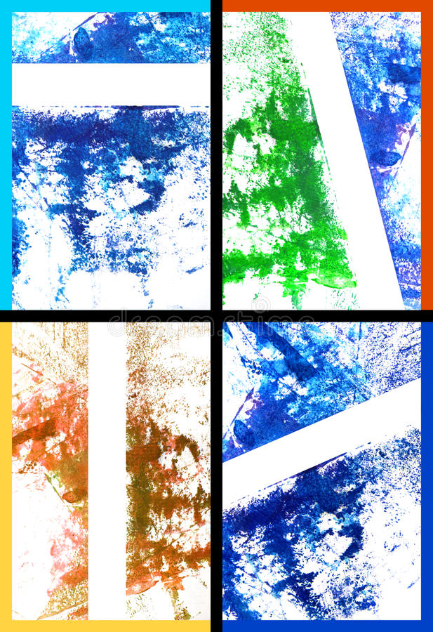 Collage de la pintura/de gráficos drenados mano abstracta imágenes de archivo libres de regalías