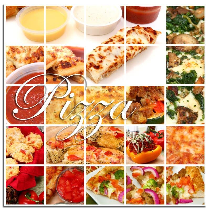 Collage de la pizza fotografía de archivo libre de regalías