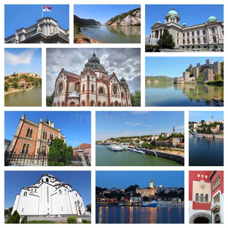 Collage de la Serbie images stock