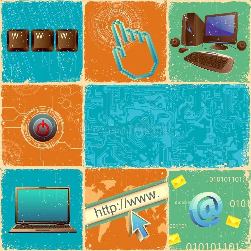 Collage de la tecnología stock de ilustración