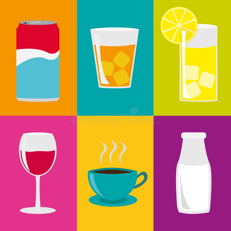Collage de las bebidas libre illustration