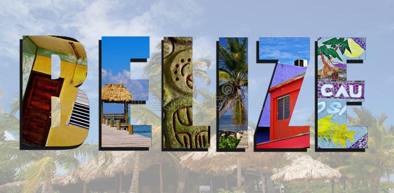 Collage de las imágenes de Belice foto de archivo libre de regalías