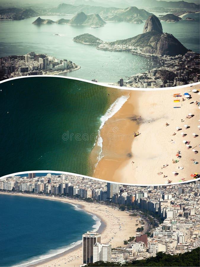 Collage de las imágenes de Rio de Janeiro (el Brasil) - fondo del viaje fotos de archivo libres de regalías
