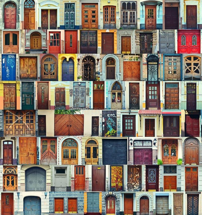 Collage de las puertas principales de Kiev, Ucrania imagenes de archivo