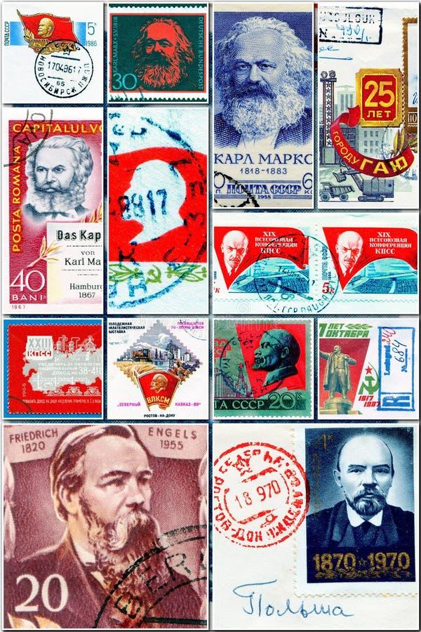 Collage de los comunistas foto de archivo libre de regalías