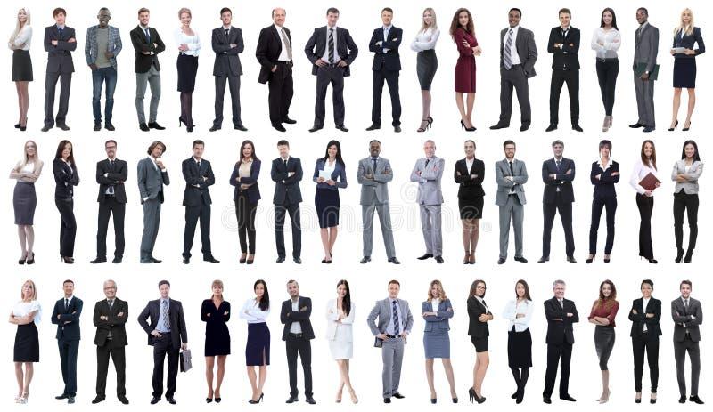 Collage de los hombres de negocios jovenes que se colocan en fila fotografía de archivo libre de regalías