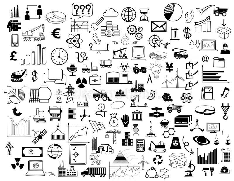 Collage de los símbolos del negocio imagen de archivo libre de regalías