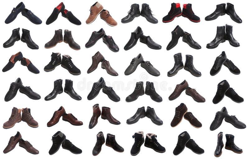Collage de los zapatos del hombre foto de archivo libre de regalías