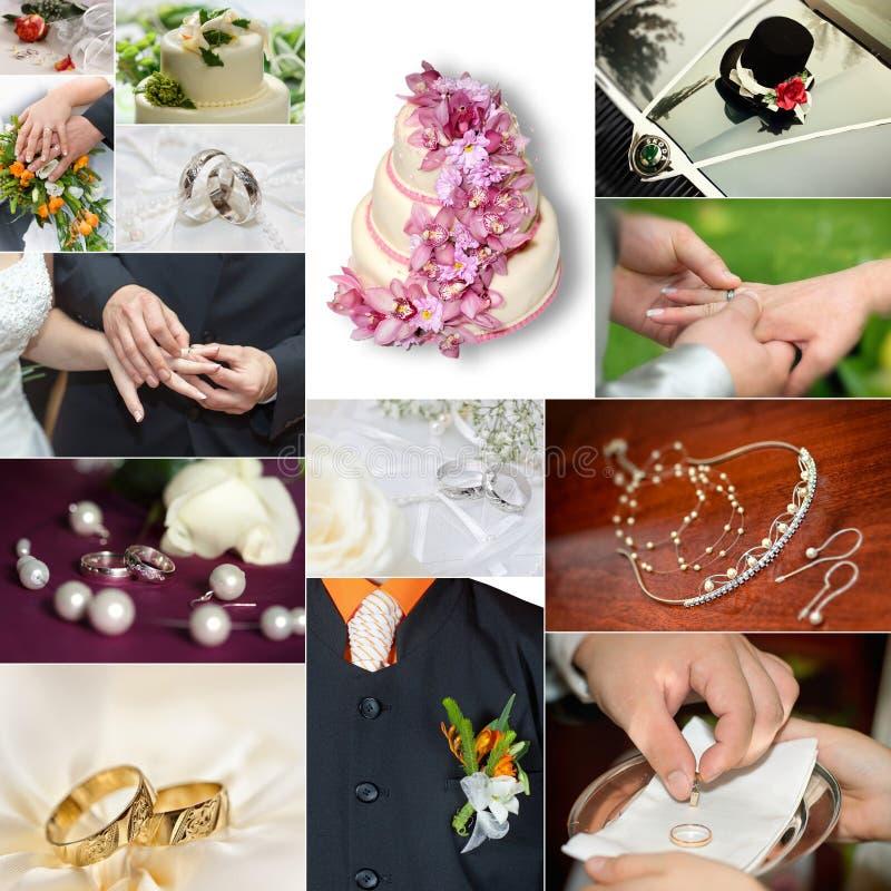 Collage de mariage photos stock