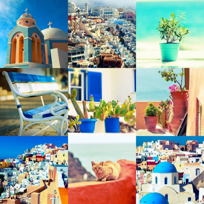 Collage de mediterráneo fotografía de archivo