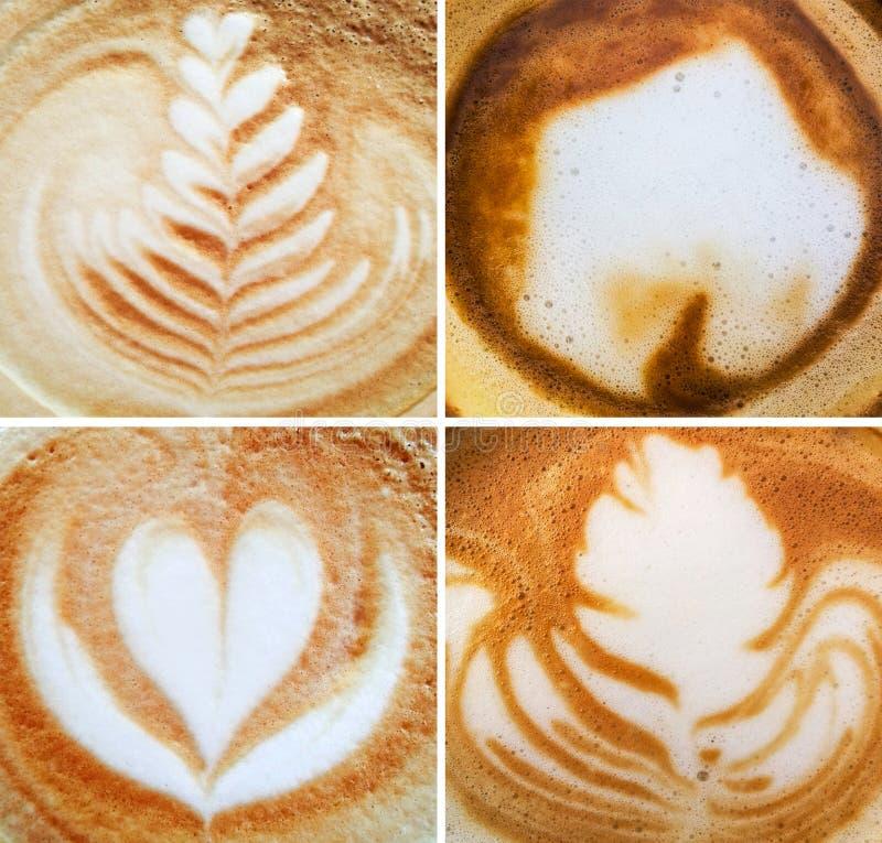 Collage de milieux de mousse de café d'expresso photos stock
