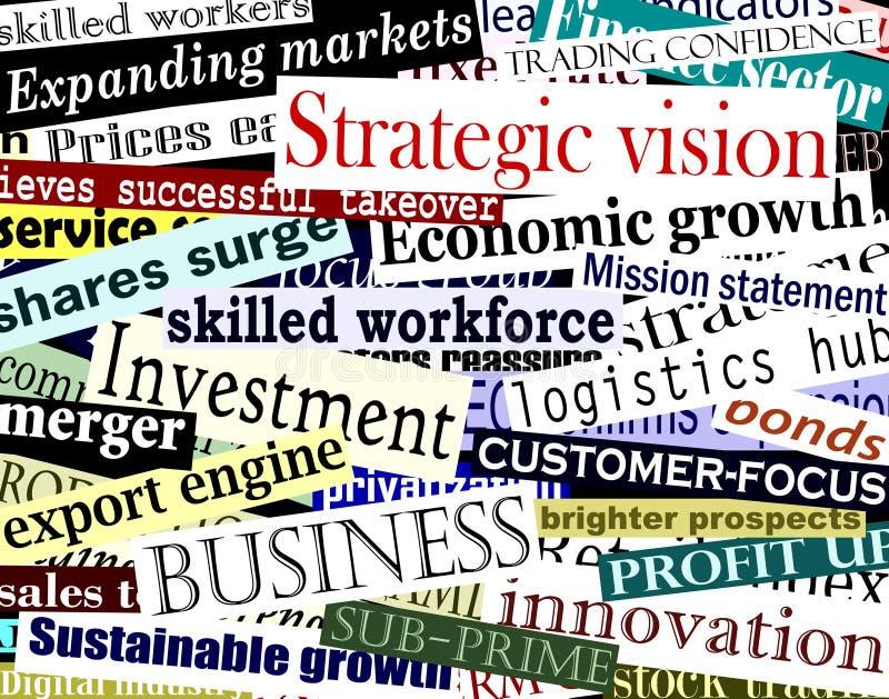 Collage de mot d'affaires illustration libre de droits