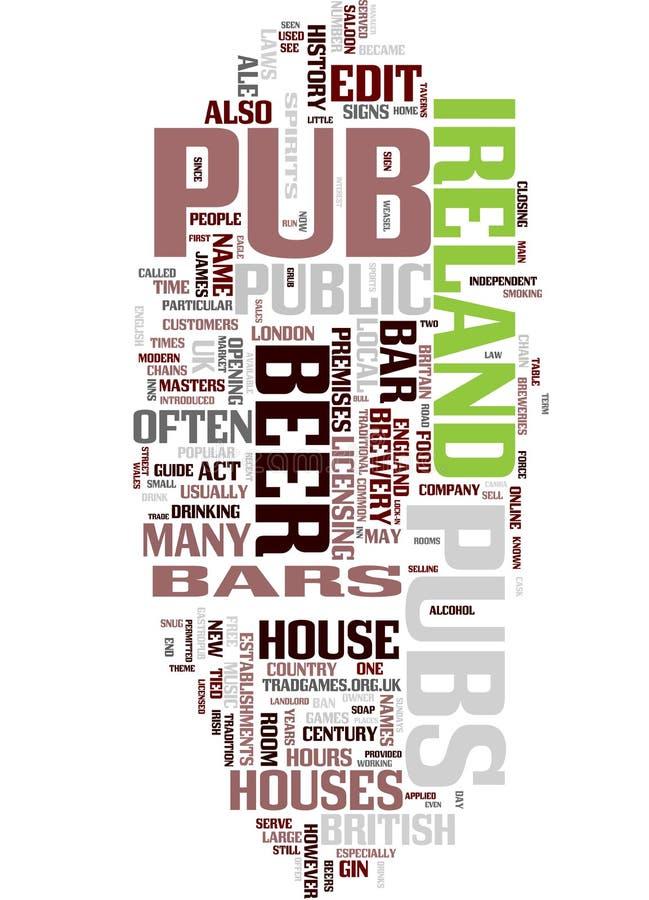 Collage de mot de Pub illustration stock