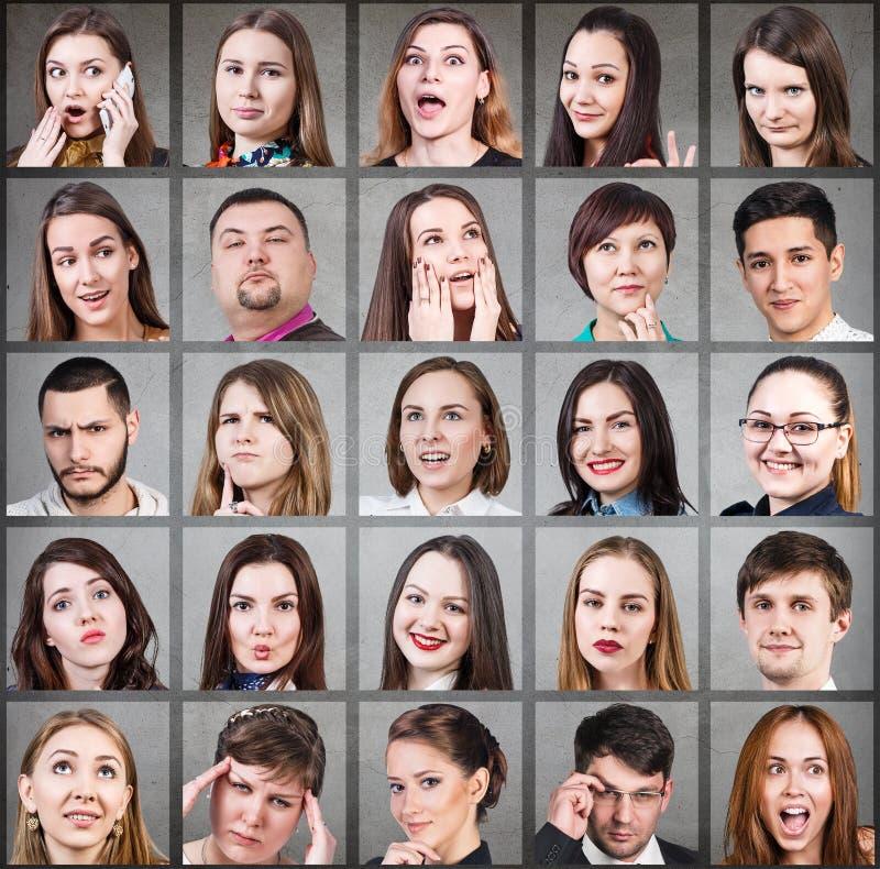 Collage de mucha diversa gente foto de archivo libre de regalías