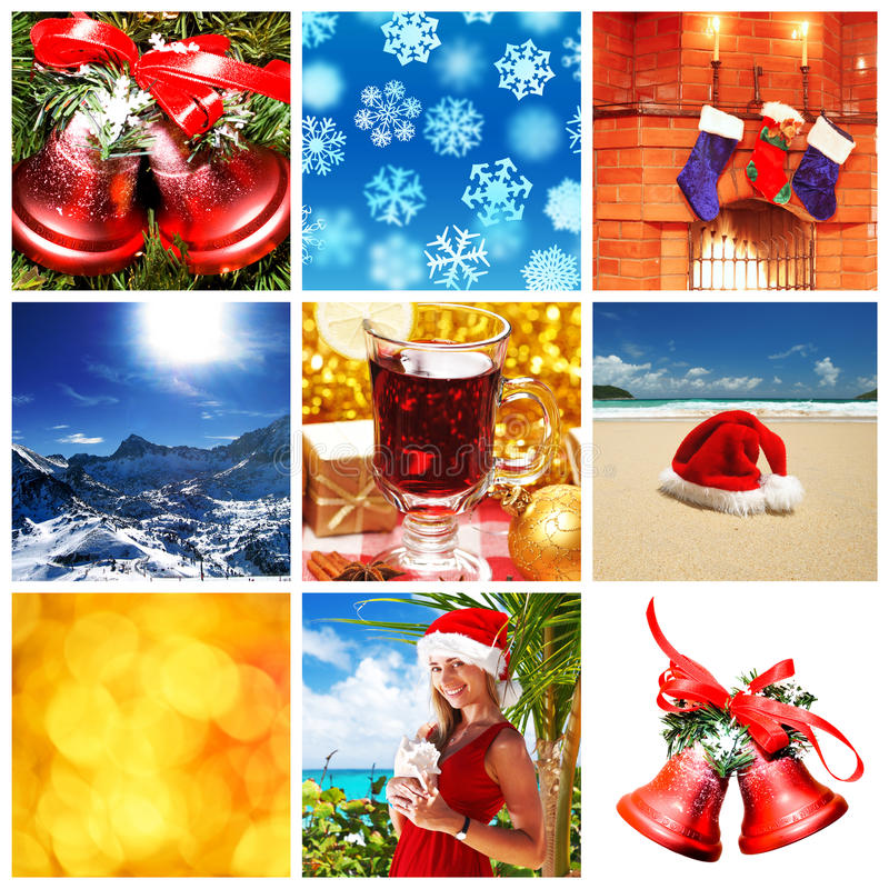 Collage de Noël image stock