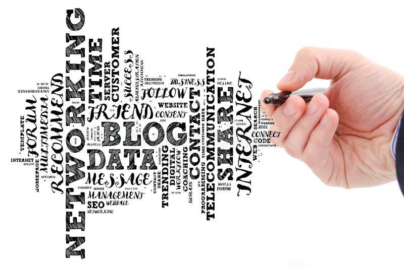 Collage de nuage de mot de blog image stock