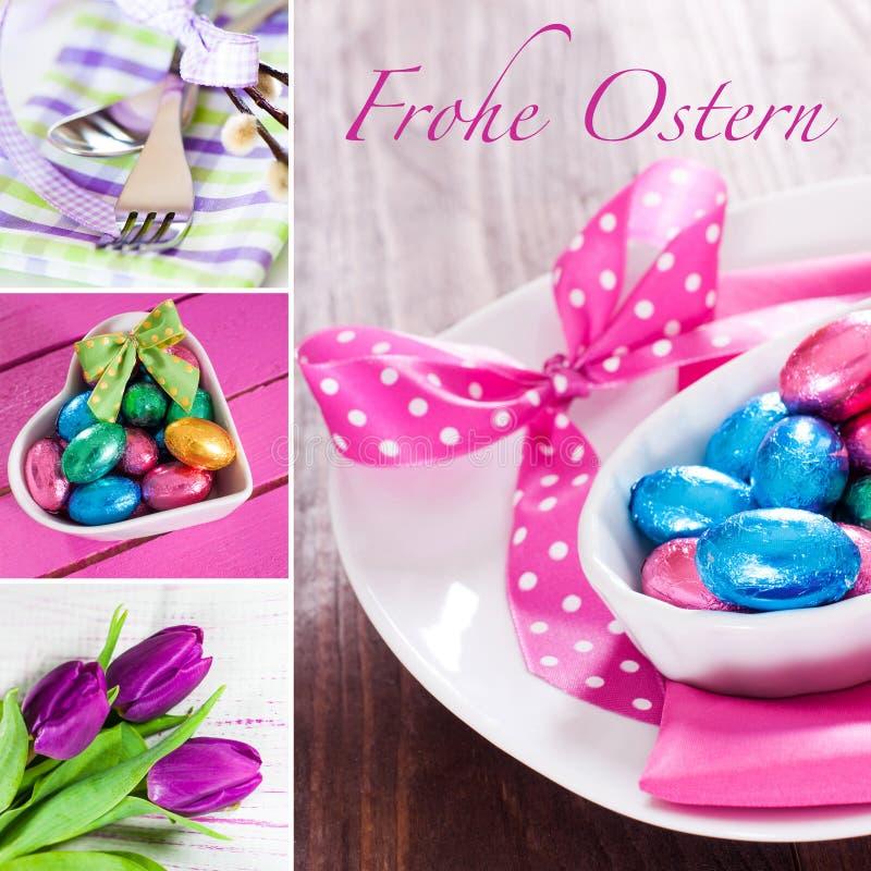 Collage de Pâques photo stock