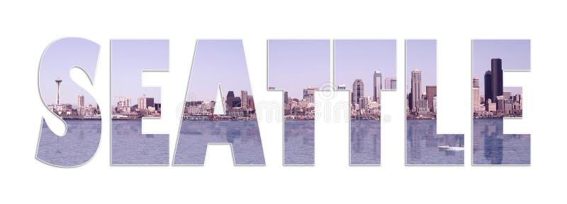 Collage de panorama de Seattle photographie stock libre de droits