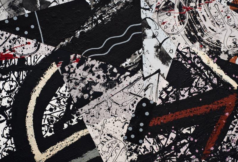 Collage de papel pintado a mano ilustración del vector