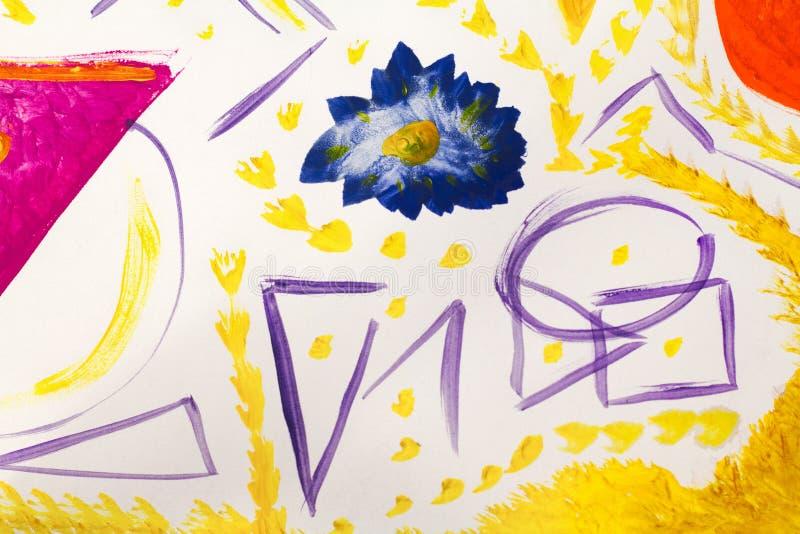 Collage de papel pintado a mano como elemento del diseño creado por el fotógrafo libre illustration