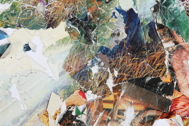 Collage de papier de revues lumineuses illustration de vecteur