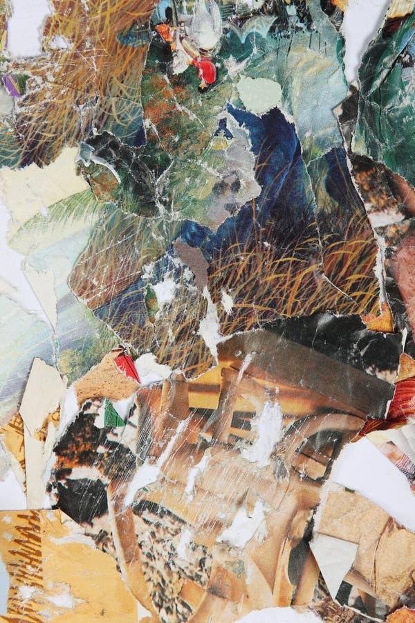 Collage de papier de revues lumineuses illustration stock