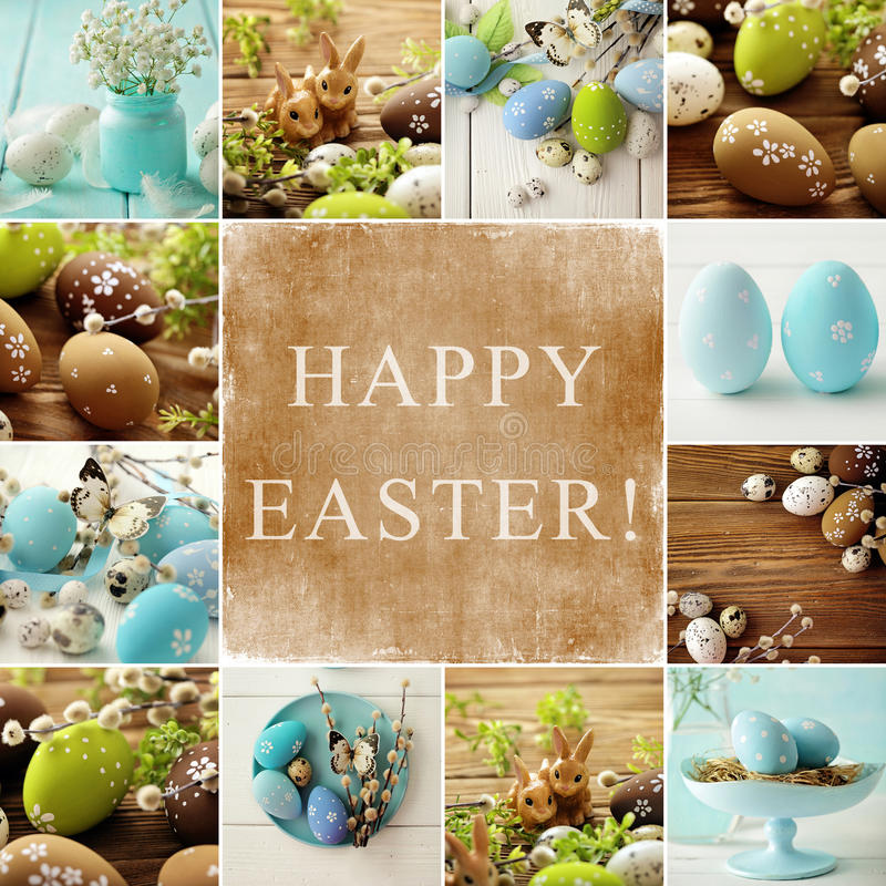 Collage de Pascua foto de archivo
