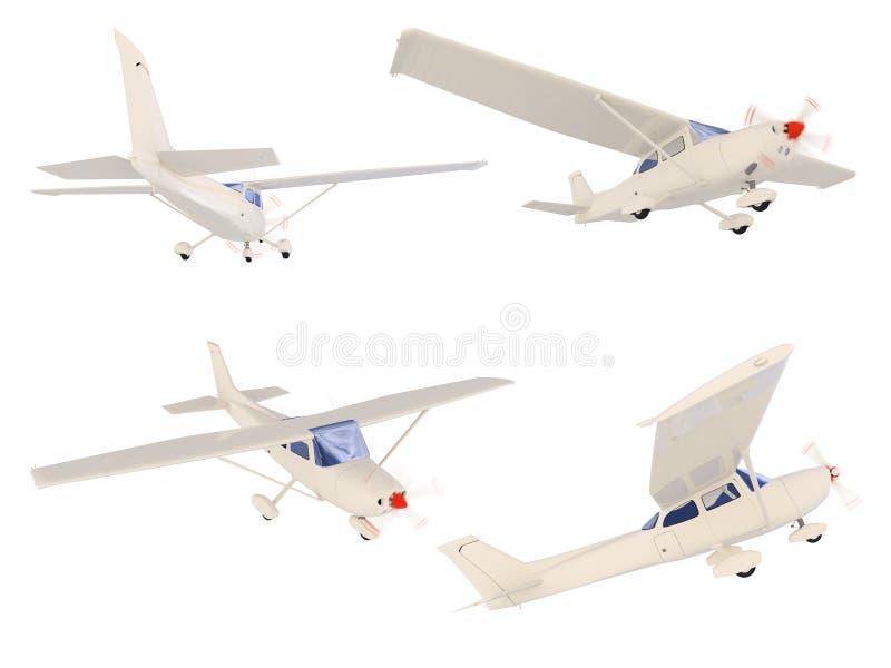 Collage de petit avion d'isolement illustration libre de droits