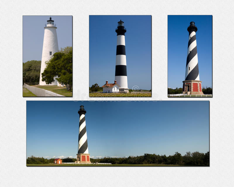 Collage de phare d'OR photo libre de droits