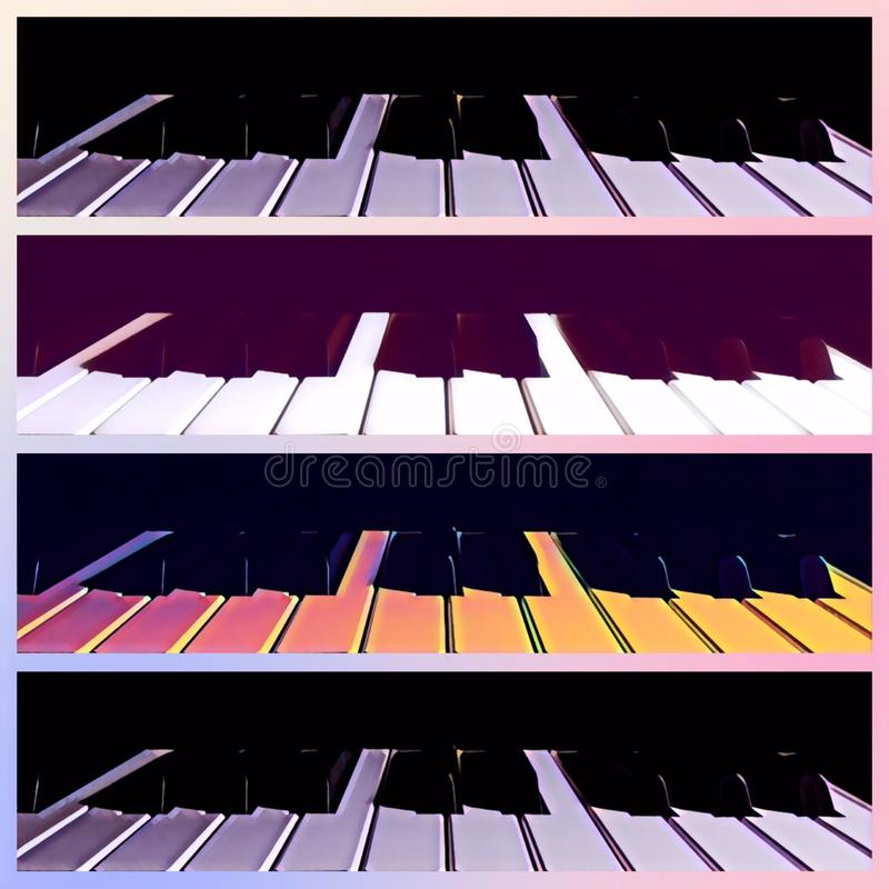Collage de piano images stock