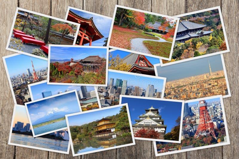 Collage de points de repère du Japon photographie stock