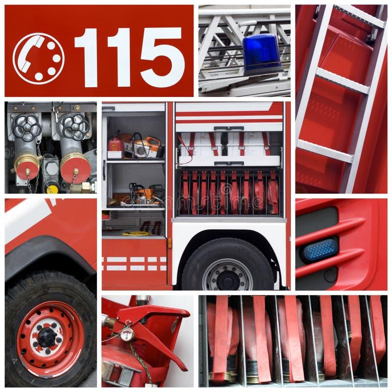 Collage de pompiers image libre de droits