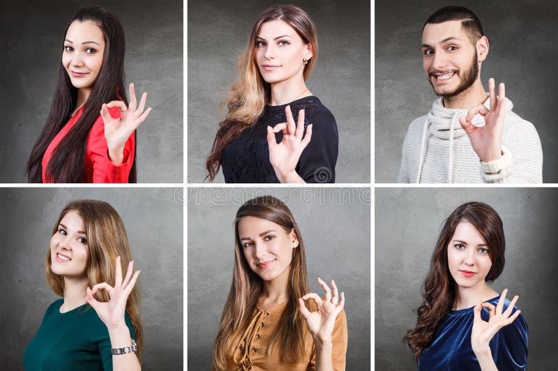 Collage de portrait de personnes photo libre de droits