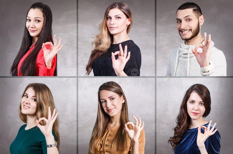 Collage de portrait de personnes image stock