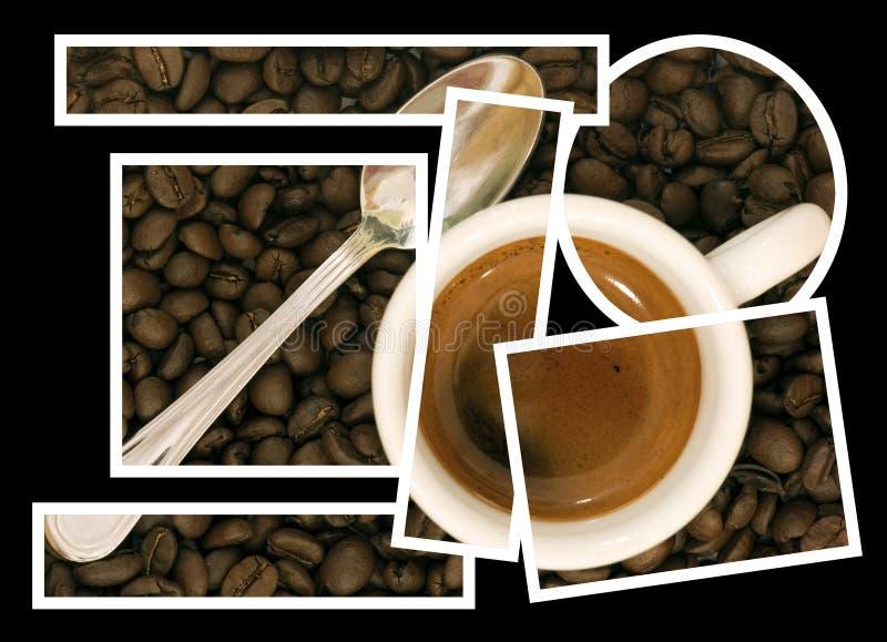 Collage de puzzle de café photographie stock