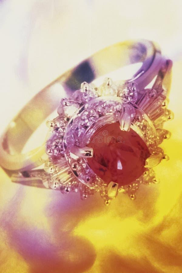 Collage de raffinage d'image de bijoux photographie stock