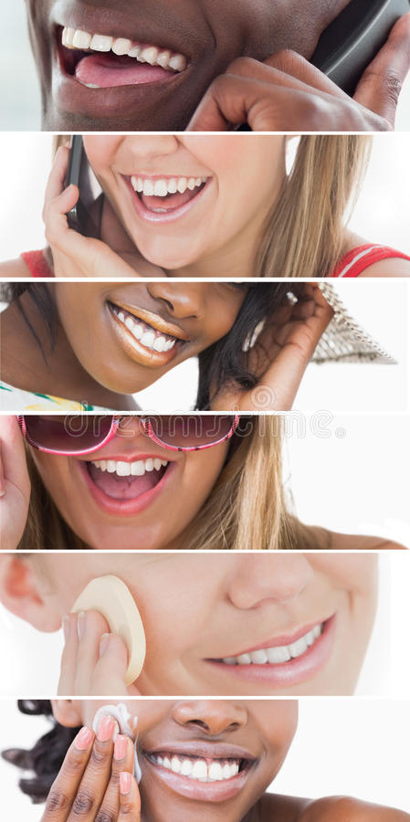 Collage de soins dentaires images stock