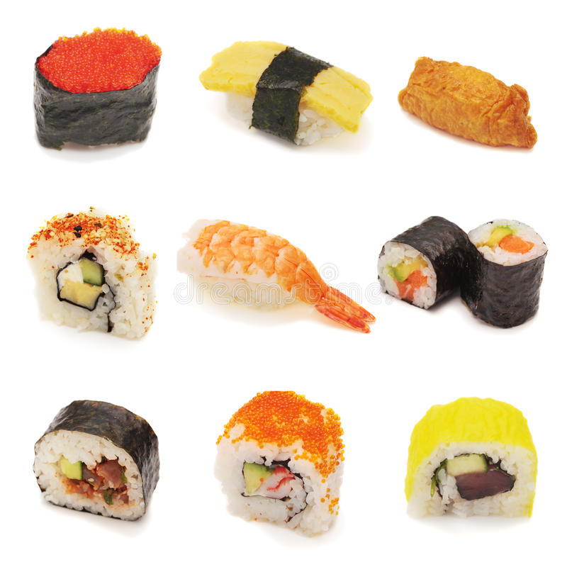 Collage de sushi photo stock