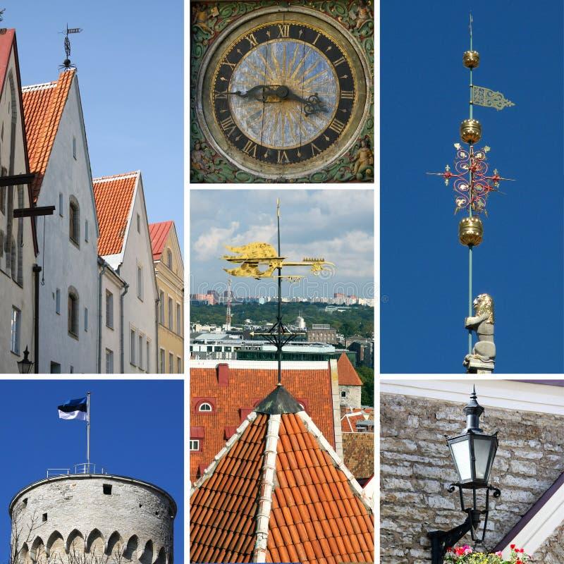 Collage de Tallinn imágenes de archivo libres de regalías
