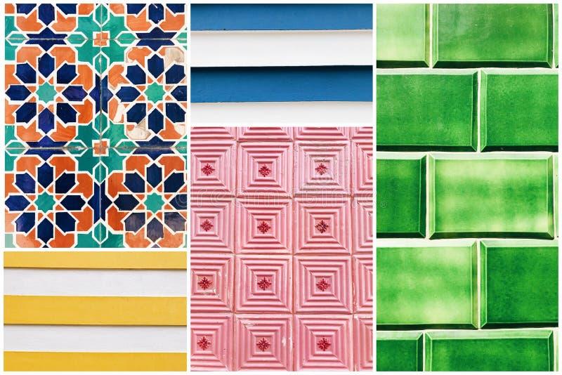 Collage de tejas coloful fotografía de archivo libre de regalías