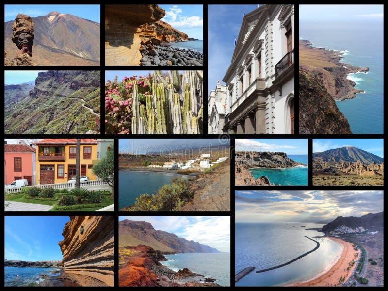 Collage de Tenerife foto de archivo libre de regalías