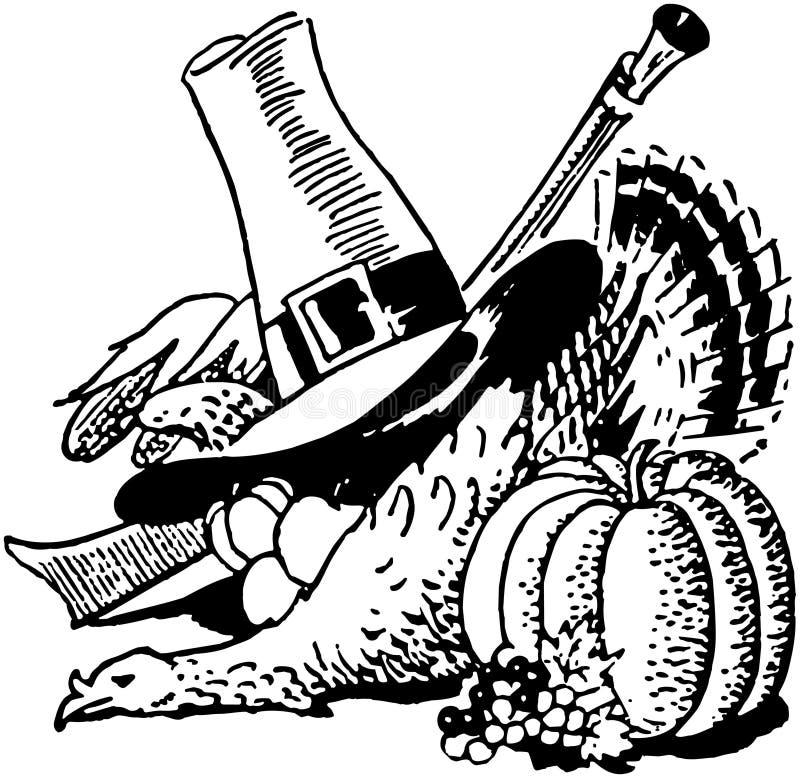 Collage de thanksgiving illustration stock