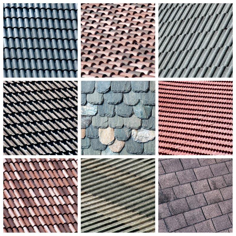 Collage de toit photographie stock