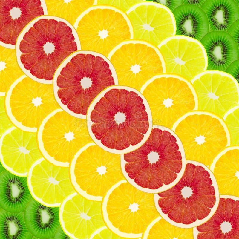 Collage de un conjunto de fruta fotos de archivo libres de regalías