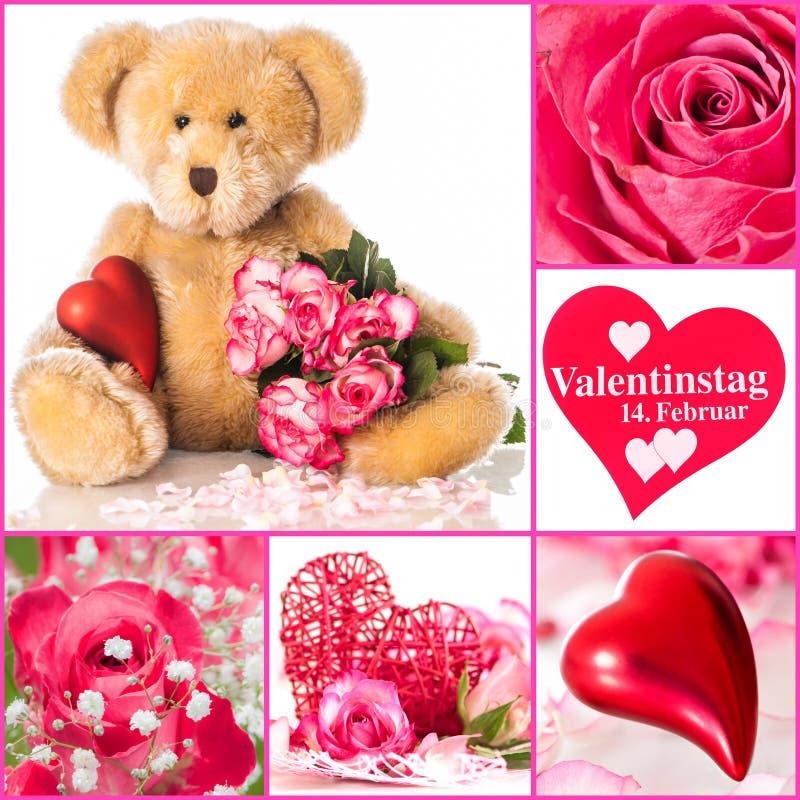 Collage de valentines image stock