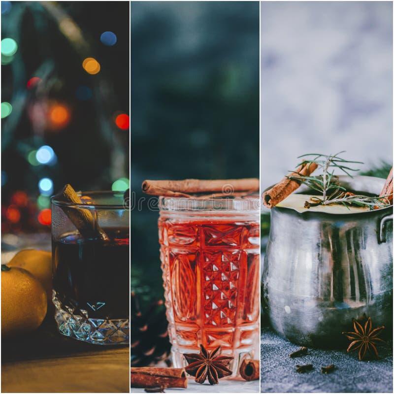 Collage de vin chaud images stock