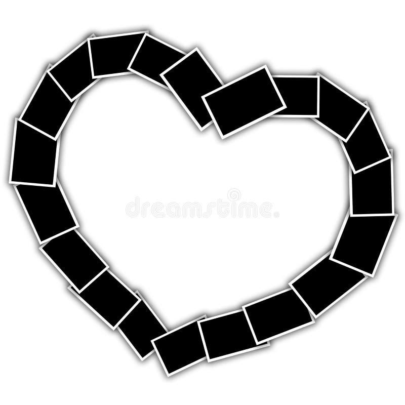 Collage in de vorm van een hart royalty-vrije illustratie
